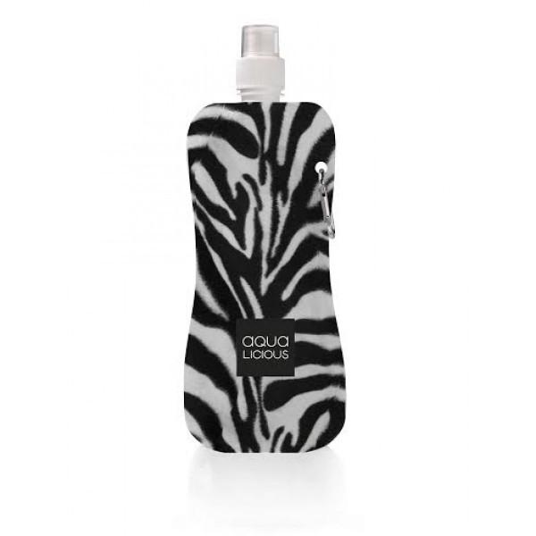 Aqua Licious összehajtható kulacs - Zebra - 400 ml