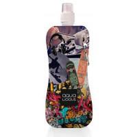 Aqua Licious összehajtható kulacs - Skate - 400 ml