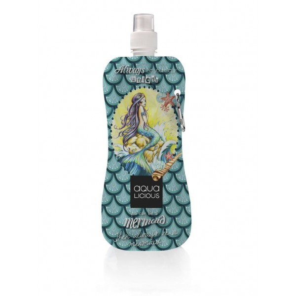 Aqua Licious összehajtható kulacs - Mermaid - 400 ml