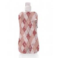 Aqua Licious összehajtható kulacs - Pink Rombusz