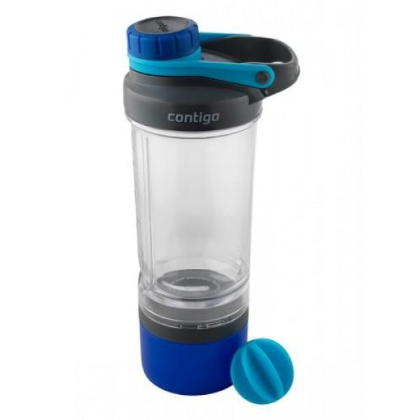 Contigo Shake&Go FIT Compartment tárolóval - kék - 650ml