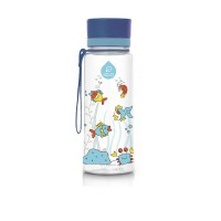 Equa műanyag  BPA mentes gyermek kulacs - kis equarium kék - 400 ml