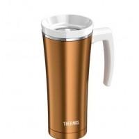 Thermos Travel Tumbler Termoszbögre füllel - arany színben -  470 ml - Teafilter tartóval
