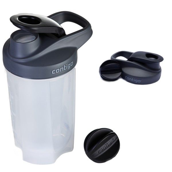 Contigo Black Shaker - Keverőlabdával - 590 ml